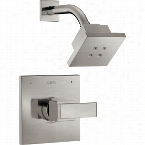Delta Faucet T14267-SSH2O - Single Handle Monitor 14 H2O Series Shower Only Faucet Trim