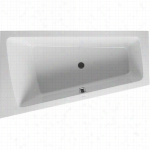 Duravit 710218-00-2-53-1090 - Left Corner Whirltub Including Jet-System With Remote, Heater, and Ozone
