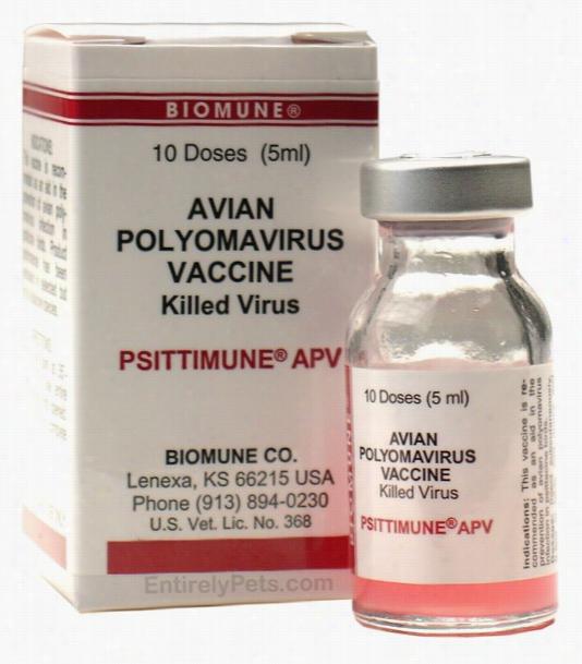 PSITTIMUNE APV Biomune Avian Polyomavirus Vaccine for Birds (5 mL)