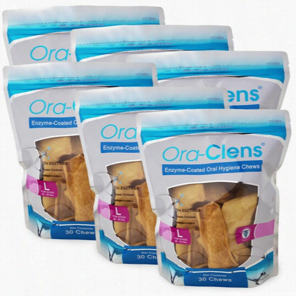 6-PACK Ora-Clens® Oral Hygiene Chews Large (180 Chews)