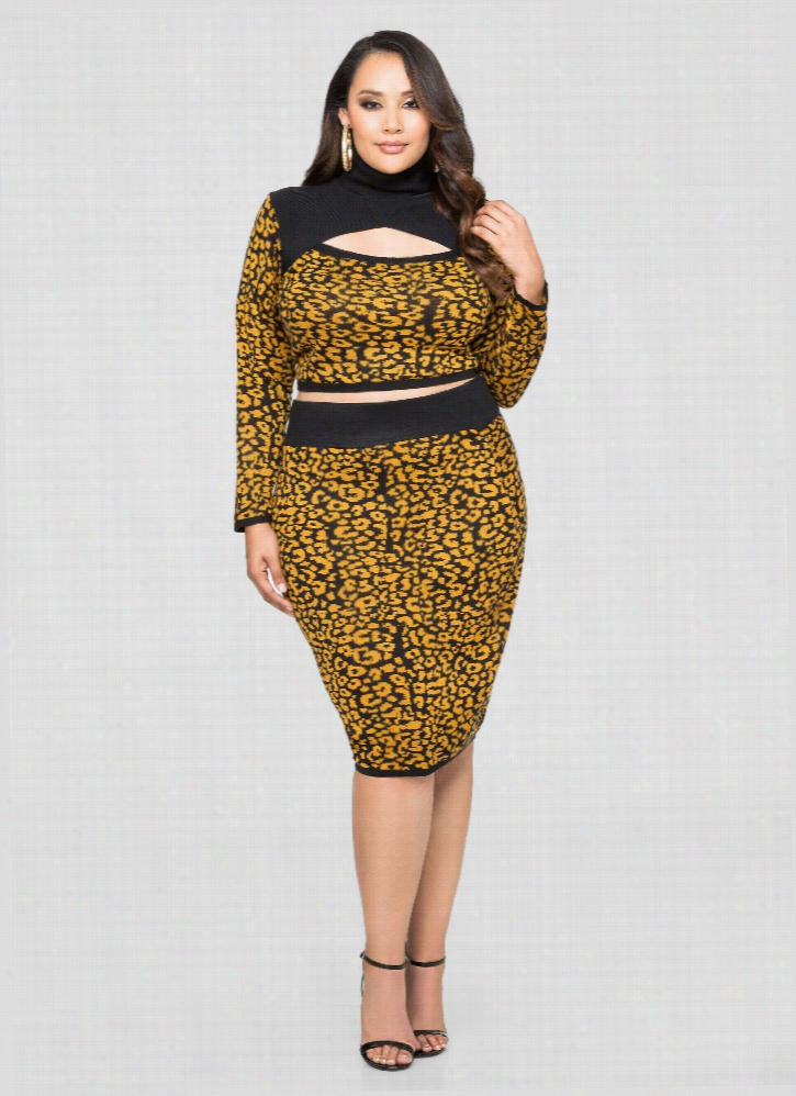 Bodycon Cheetah Print Skirt