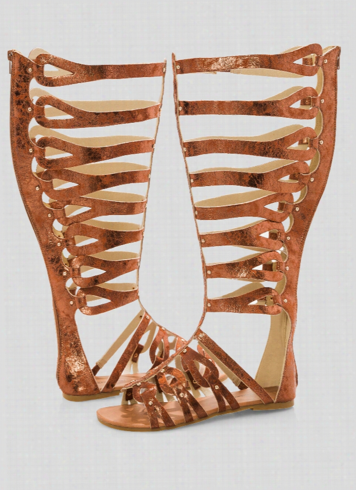 Pershia Flat Gladiator Sandal - Wide Width Wide Calf