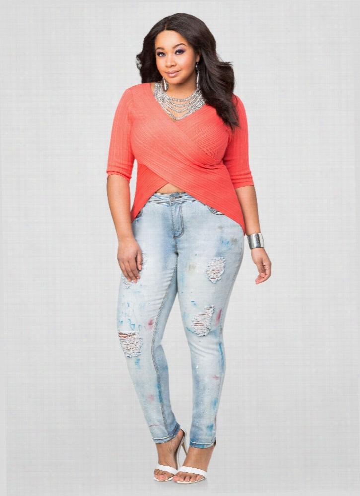 Splatter Paint Skinny Jean