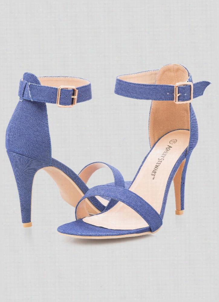 Tessa Denim Sandal - Wide Width