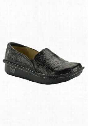 Alegria Debra slip on nursing clogs. - Embossed Rose Black - 36