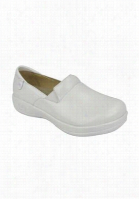 Alegria Keli White Waxy nursing shoes. - White Waxy - 36
