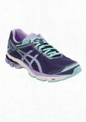 Asics women's athletic shoe. - Midnight/Violet/Beach Glass - 10