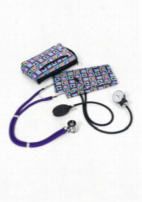 Beyond Scrubs Aneroid Sphygmomanometer/Sprague-Rappaport Print kit. - Four Square Hearts - OS