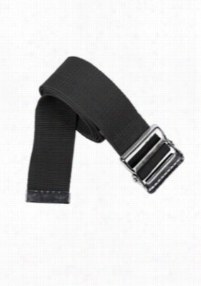 Beyond Scrubs nylon gait belt with metal buckle. - Black - OS