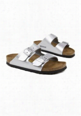 Birkenstock Arizona soft footbed women's sandal. - Silver - 40