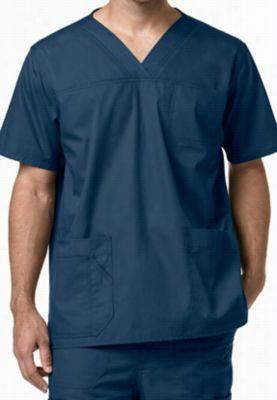 Carhartt Ripstop multi pocket mens scrub top. - Caribbean - M