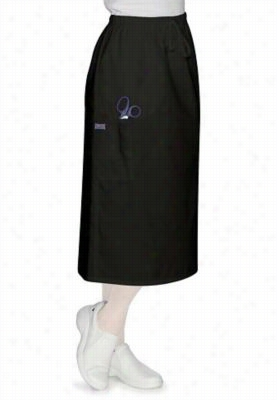 Cherokee Workwear 30 inch drawstring skirt. - Black - M