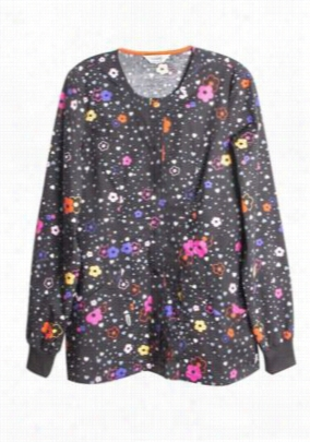 Code Happy More Flower to You print scrub jacket. - More Flower to You - S