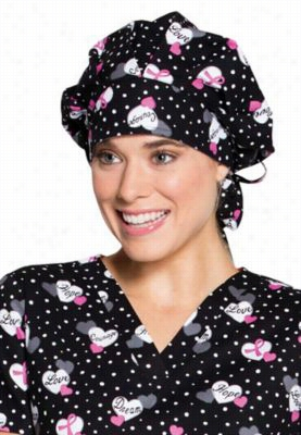 Code Happy print scrub hat with Certainty. - Love and Courage - OS