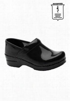 Dansko Professional patent leather nursing clogs. - Black - 36W