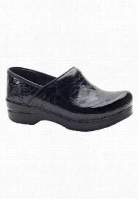 Dansko Professional tooled leather nursing clogs. - Black - 37