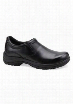 Dansko Wynn black smooth leather nursing clogs for men. - Black - 42