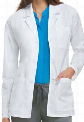 Dickies Professional Whites with Certainty Plus women's consultation lab coat. - White - M