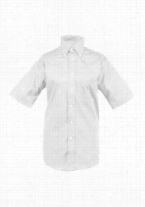 Edwards Garment short sleeve mens oxford chef shirt. - White - S