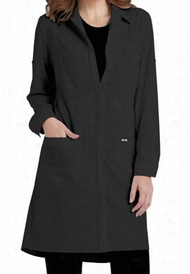 Infinity by Cherokee 40 inch button front lab coat with Certainty. - Black - 3X