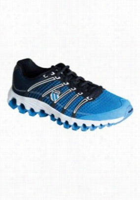 K-Swiss Tubesrun mens athletic shoe. - Brilliant Blue/black dot - 9.5