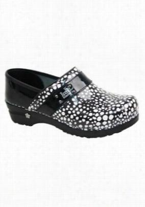 Koi by Sanita Lindsey Lava nursing shoe. - Black/white - 36