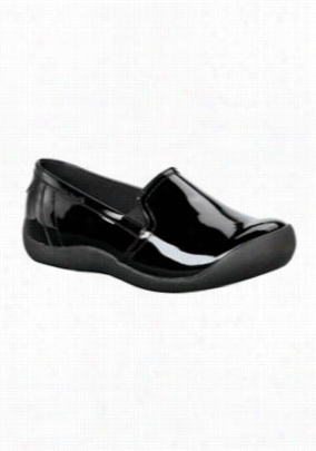 Landau Remedy womens slip-on shoe. - Black patent - 5