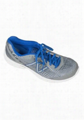 New Balance Mens cushion athletic shoe. - Grey/Blue - 8.5