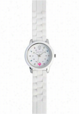 Nurse Mates Sparkle Dot Watch. - White - OS