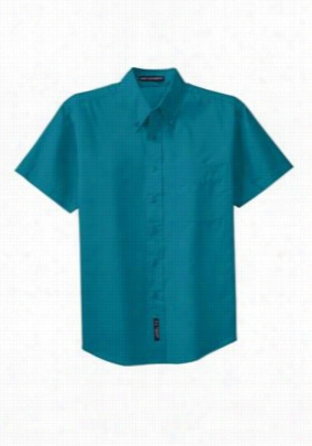 Port Authority Mens short sleeve Easy Care shirt. - Teal - 2X