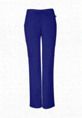 Sapphire elastic waist cargo scrub pants with Certainty. - Sapphire Blue - M