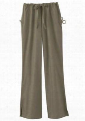 ScrubZone flare-leg scrub pants. - Taupe - 4X