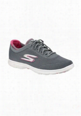 Skechers Go Step Sport athletic shoes. - Charcoal/Hot Pink - 6