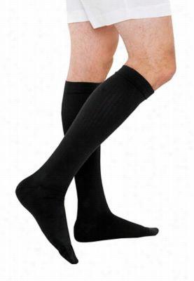 Therafirm light support mens trouser socks. - Black - L