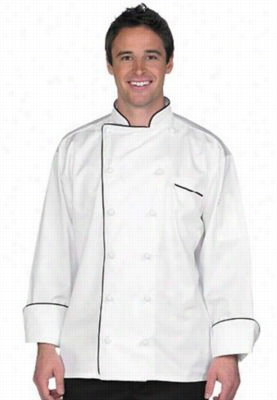 Uncommon Threads Egyptian cotton executive chef coat. - White - XS