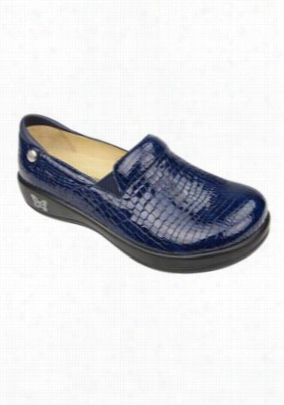 Alegria Keli Blue Croco nursing shoes. - Blue Croco - 37