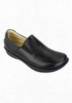 Alegria Oz slip-on mens shoes. - Black Wave - 42