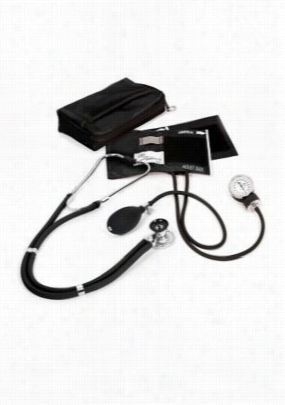 Beyond Scrubs Aneroid Sphygmomanometer/Sprague-Rappaport kit. - Black - OS