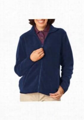 Blue Generation ladies full zip fleece jacket. - Navy - 2X