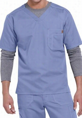 Carhartt mens v-neck scrub top. - Ceil Blue - 3X