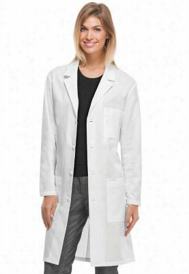 Cherokee long unisex lab coat with Certainty Plus. - White - S