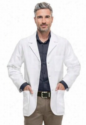 Cherokee mens consultation 31 inch lab coat with Certainty Plus. - White - 5X