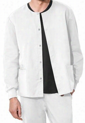 Cherokee Workwear Flex unisex scrub jacket with Certainty. - White - 4X