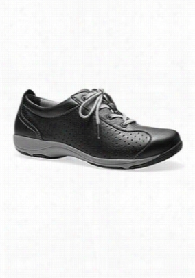 Dansko Hillary leather sneaker nursing shoe. - Black - 37