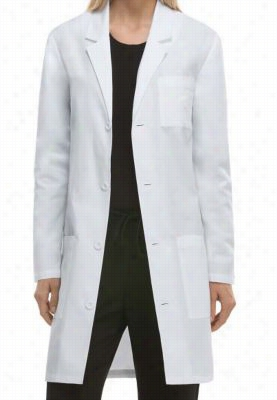 Dickies Professional Whites with Certainty Plus unisex 37 inch lab coat. - White - 2X