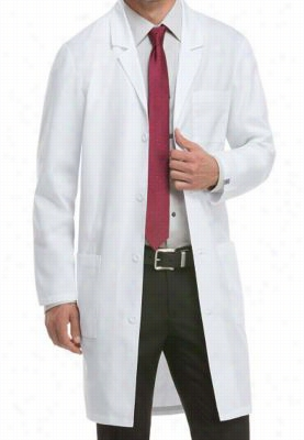 Dickies Professional Whites with Certainty Plus unisex 40 inch lab coat. - White - M