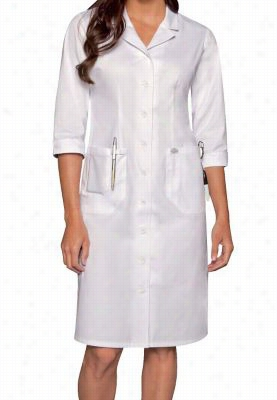 Dickies Professional Whites women's button front dress. - White - M