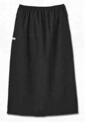 Fundamentals ladies elastic waist skirt. - Black - XS