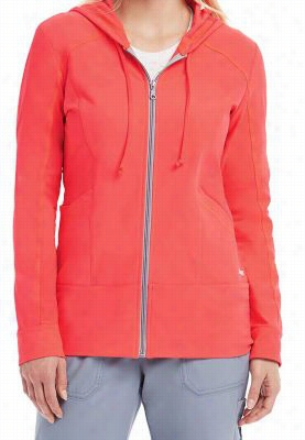Greys Anatomy 3-pocket zip up hoodie. - Papaya - XL