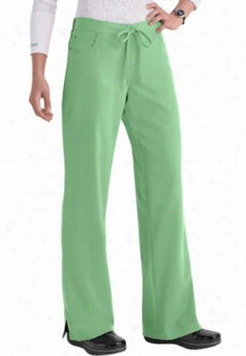 Greys Anatomy 5-pocket drawstring scrub pants. - Peridot - 2X